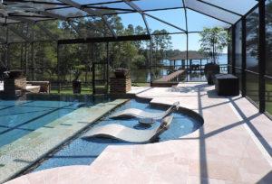 Relaxing Pool Enclosure