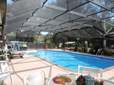 Pool enclosure in Escambia County