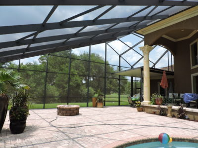 Pool enclosure in Fairhope