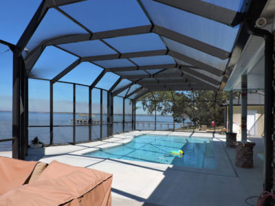Pool enclosure in Daphne
