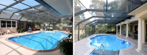 Half-mansard Pool Enclosure