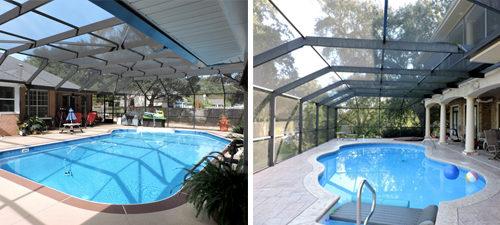 Half-mansard Pool Enclosure